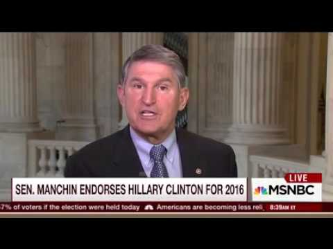Manchin Discusses Coal, the 2016 Election and Reconnecting McDowell on Morning Joe