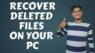 Recover Deleted Games and Files on Your PC in Hindi.