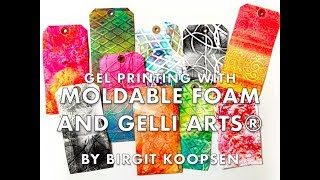 Gelli Arts® Gel Printing with Moldable Foam