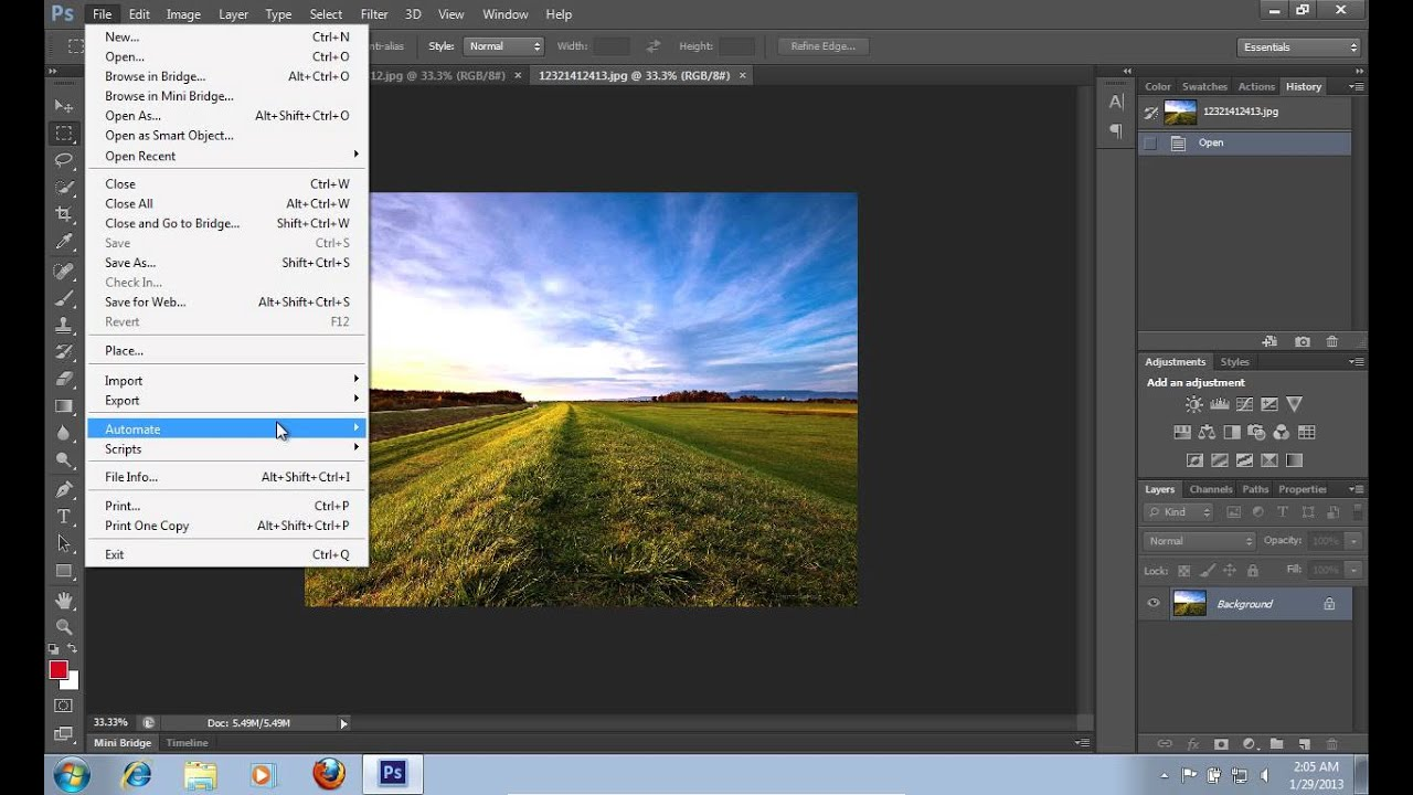 how to save image as pdf in photoshop