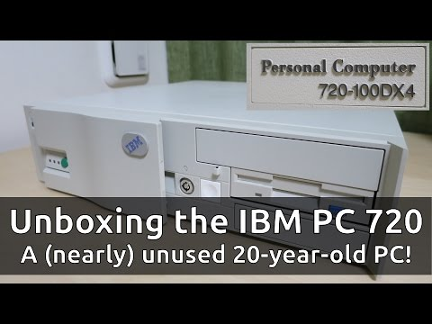1995 IBM PC Series 720: Unboxing a (nearly) unused 20-year-old 486 PC!