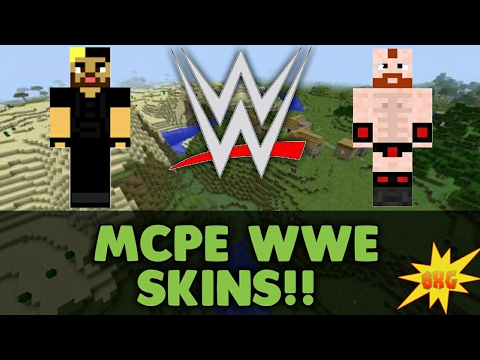 MCPE TOP WWE SKINS BONUS SKIN Skin Link In Description - Skin para minecraft pe wwe