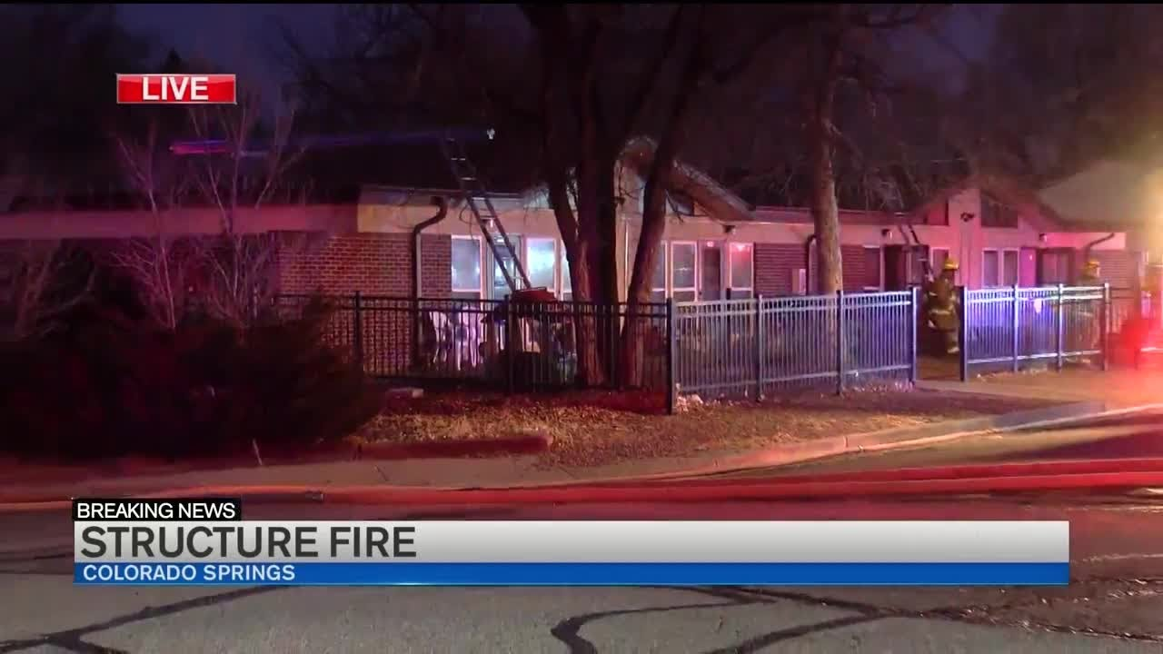 Seven displaced following structure fire in Colorado Springs