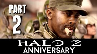 Halo 2 Anniversary Walkthrough Part 2 - OUTSKIRTS (Mission 4) Master Chief Collection - 60fps