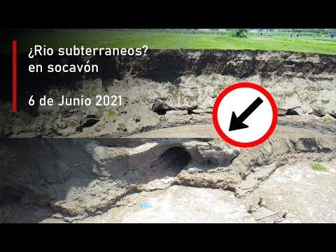 ¿Hoyos?..¿Túneles? en Socavón Puebla (6 de Junio 2021)