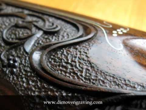 Woodcarving On Gunstock Art Nouveau Style Youtube