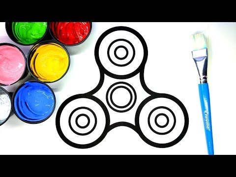 Thumbnail: Painting Fidget Spinner Painting Pages for Baby and Kids, Learn to Color with Paint