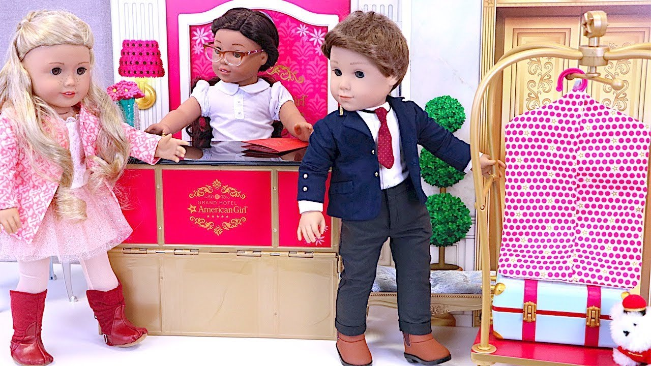 970b5fcb48 American Girl Grand Hotel Toys Baby Doll Trip Packing - YouTube