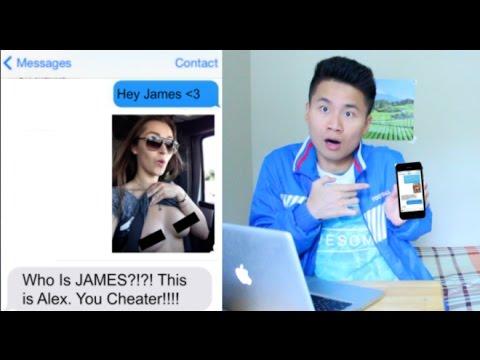 cheating girlfriend on phone