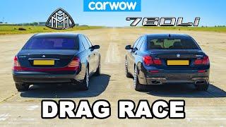 BMW 760Li vs Maybach: DRAG RACE *V12 Luxury*