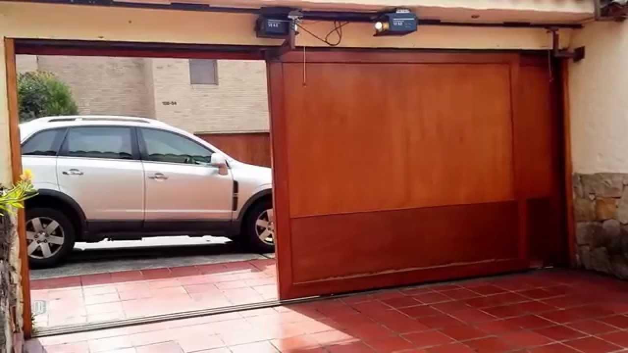 Puertas el ctricas para garaje youtube - Puertas automaticas para cocheras ...