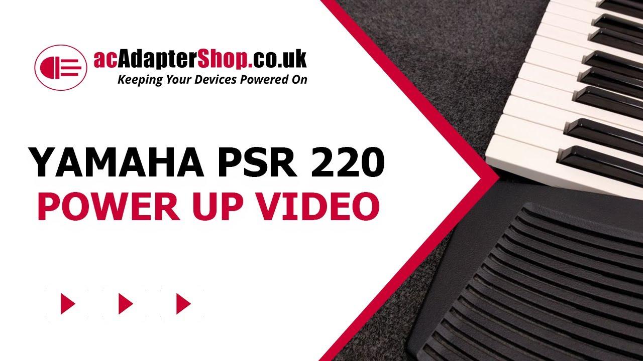 Yamaha PSR 220 Keyboard 12v AC DC Power Supply Cable Adapter
