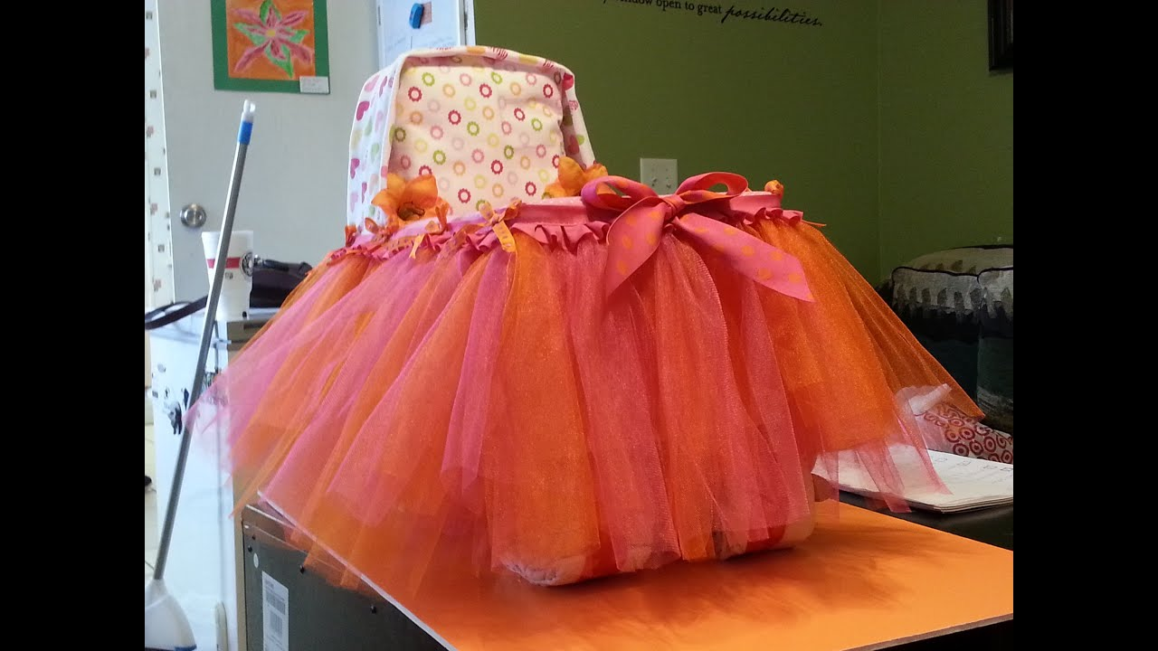 How To Make A Large Bassinet Diaper Cake With Wheels For