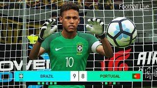 PES 2018   goalkeeper NEYMAR vs goalkeeper C.RONALDO   Penalty Shootout   Brazil vs Portugal