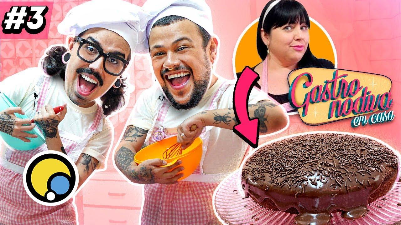 GASTRONODIVA EM CASA - O Bolo de Chocolate MAIS FAMOSO do YouTube | Diva Depressão