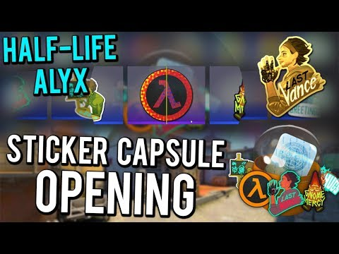 Half-Life: Alyx Sticker Capsule Opening + NEW Patches And Pins In CS:GO