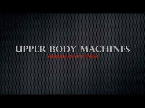 Snap Fitness Upper Body Machines