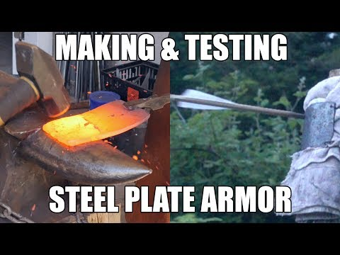 Forging and Testing a Mild Steel Armor Plate - Overpowered!