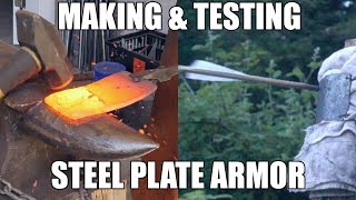 Forging and Testing a Mild Steel Armor Plate - Overpowered