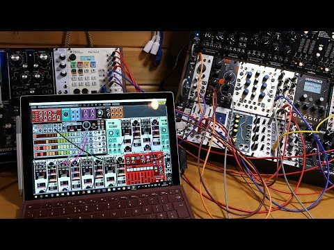 Voltage Modular (Beta) sequencing and triggering my Eurorack