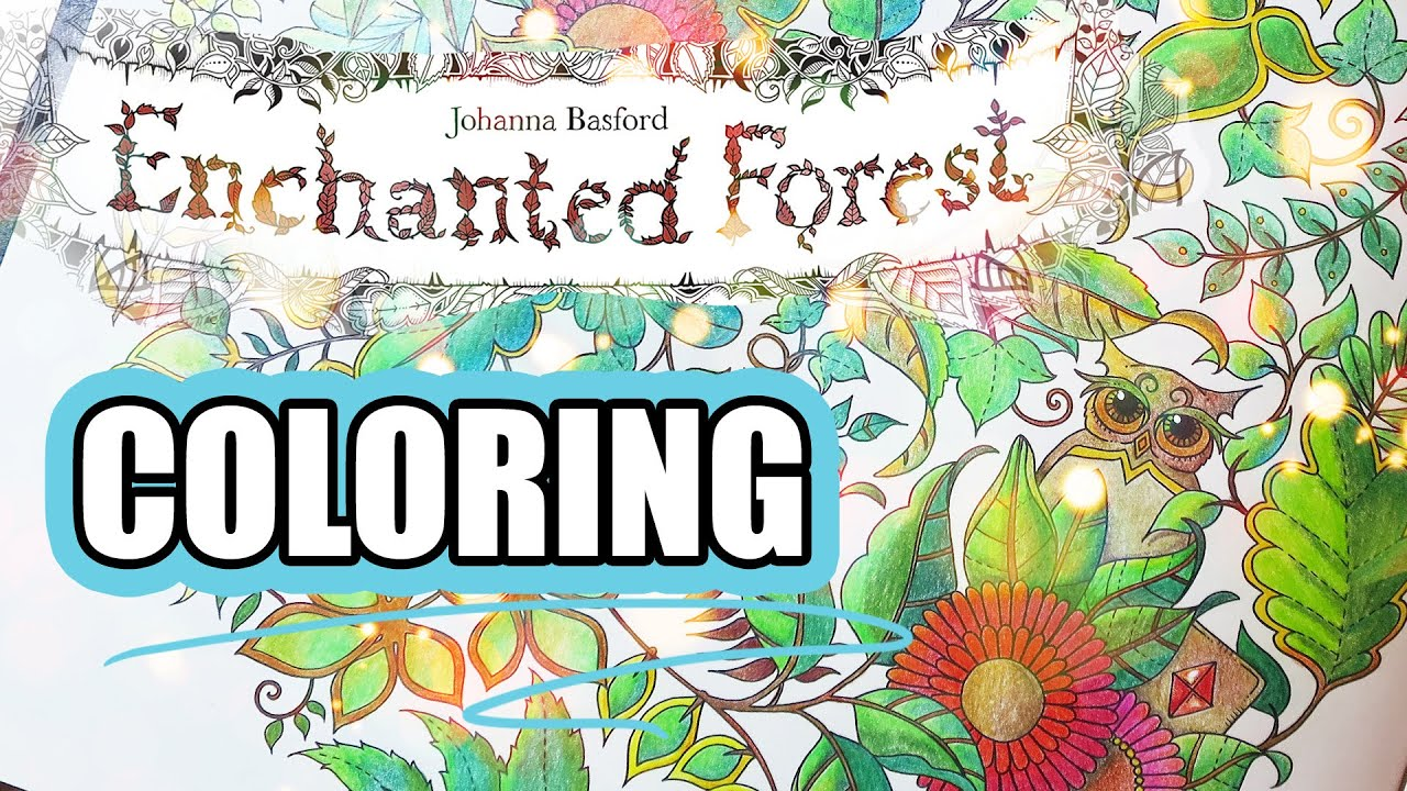 coloring book johanna : Coloring Book Journey 001 Enchanted Forest By Johanna Basford