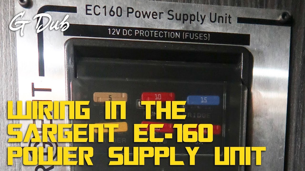 Wiring In A Sargent Ec 160 Power Supply Unit