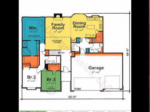 One Story House Plans | House Plans One Story | 4 Bedroom House Plans One Story