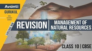 Management of Natural Resources | CBSE Class 10 Revision and Important Questions