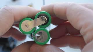 Bosch psr 960 9,6v şarjlı matkabın bataryasının li-ion pillerle değişimi