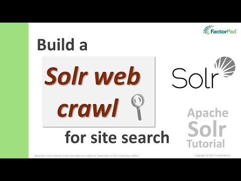 Solr Web Crawl - Crawl Websites and Search in Apache Solr