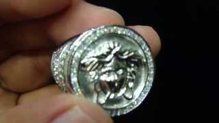 Master of Bling Custom Sterling Silver Lab Diamond Greek  Men