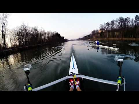rowing gopro singe scull