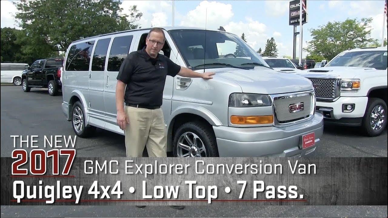 New 2017 GMC Explorer Conversion Van Quigley 4x4 Low Top 7 Pass