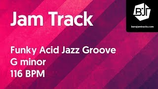 Funky Acid Jazz Groove Jam Track in G minor - BJT #16