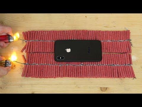iPhone X vs 1000 Firecrackers