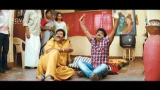 Jaggesh caught by Shobhraj in his Home   Super Comedy Scenes of New Kannada Movie Cool Ganesha