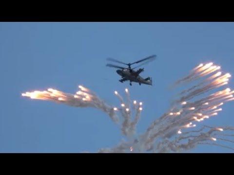 """Russian Air Force 2018: Ka-52 """"Alligator"""", Mil Mi-28, Su-30SM, MiG-29, Russian Knights."""
