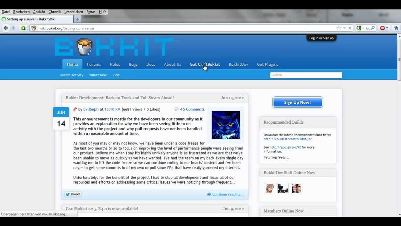 Minecraft Bukkit Server Erstellen German YouTube - Minecraft craftbukkit server erstellen