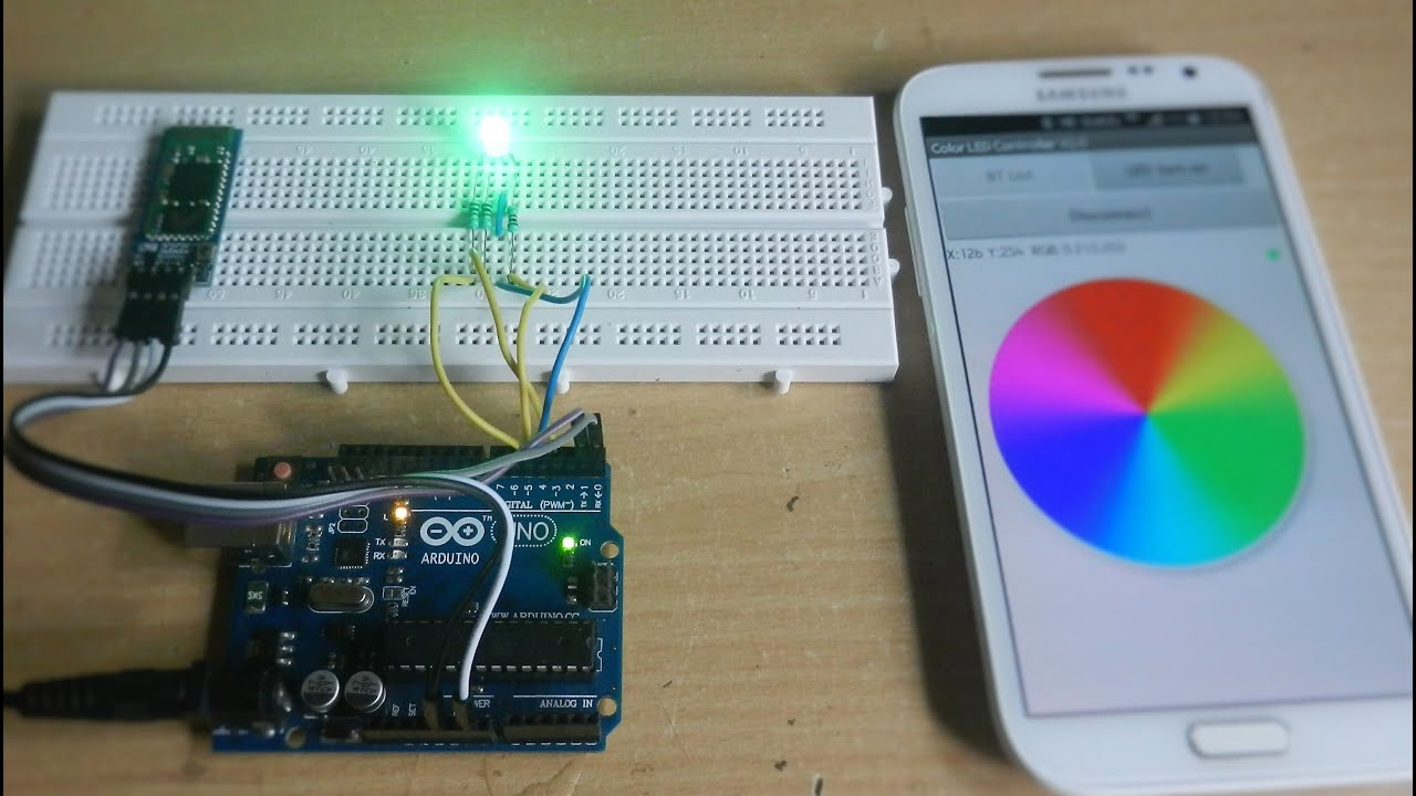Arduino Rgb Led Control Using Bluetooth Youtube Colour Controller Connection Diagram