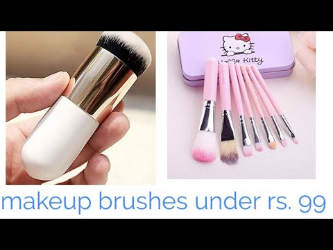 1c32bdc7f Best makeup brushes under RS 99 | hello Kitty makeup brushes | - YouTube