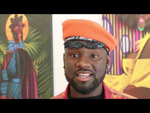 Jaleel Campbell pays tribute to Syracuse artistMichael Moody in exhibit debut (video)