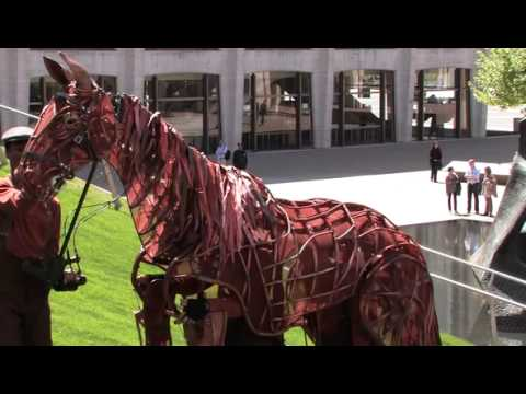 Horsin' around on Lincoln Center's lawn