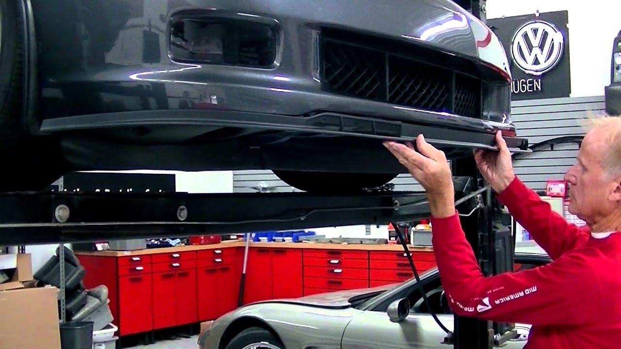 C6 Corvette Grand Sport >> Installing Your C6 Corvette Chin Spoiler - YouTube