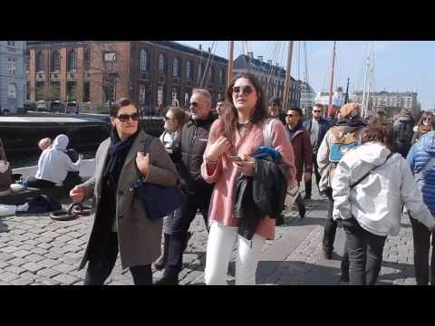 Walking around Copenhagen.