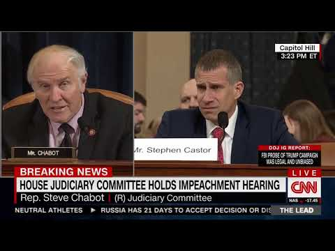 Congressman Steve Chabot's Remarks During Second House Judiciary Impeachment Hearing
