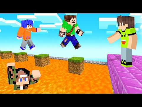 JUMP Over The LAVA Or LOSE! (Minecraft Simon Says)