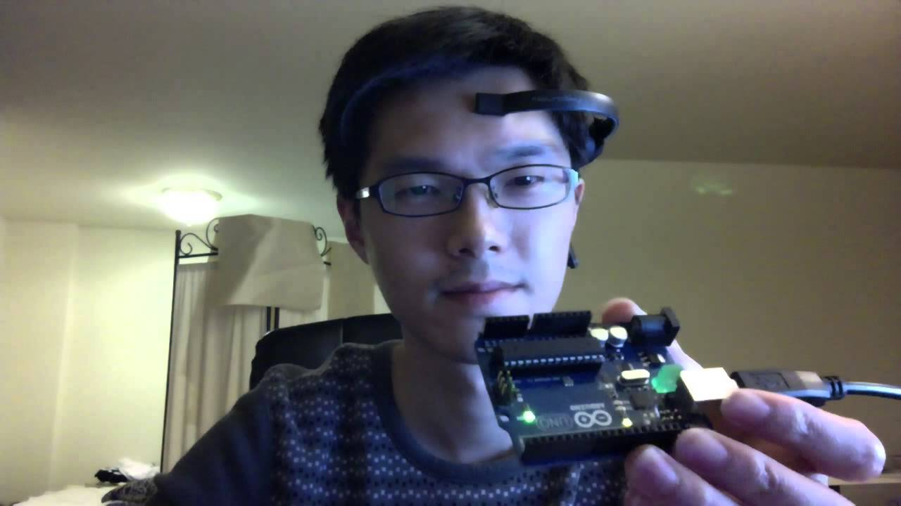 LED on arduino blinks with eye By EOG Detection
