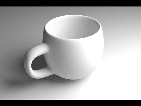 Simple Coffee Cup Blender Tutorial