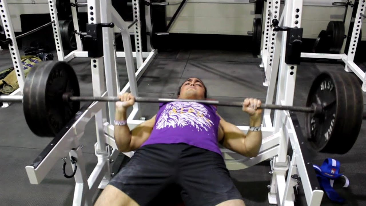 Omar Isuf 340lb Bench Press Attempt (@180lbs Bodyweight)