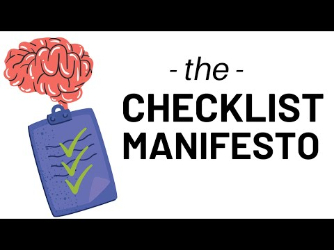 HOW TO GET THINGS DONE - THE CHECKLIST MANIFESTO by ATUL GAWANDE